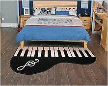 """sannix Mikrofaser weich Schlafzimmer und Bad Piano Accent Teppich Pad Home Dekoration Boden Fun Creative Teppich und Teppiche, 20von 79cm, Piano-Right, 27.5""""*55.1"""