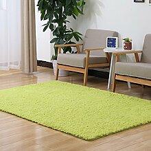 Sannix Shaggy-Teppich, modern, weich, für Wohnzimmer/Schlafzimmer, waschbar, Polyester Textil Schwamm, grün, 16*24 inch