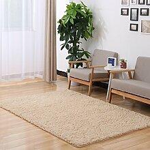 Sannix Shaggy-Teppich, modern, weich, für Wohnzimmer/Schlafzimmer, waschbar, Polyester Textil Schwamm, camel, 39*79 inch