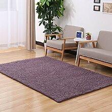 Sannix Shaggy-Teppich, modern, weich, für Wohnzimmer/Schlafzimmer, waschbar, Polyester Textil Schwamm, Lila / Grau, 24*63 inch