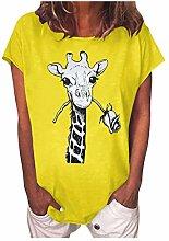 Sannysis Lustiges Giraffen Tiere Giraffe T-Shirt