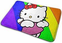 SanRe Hello Kitty Regenbogen-Teppich für drinnen