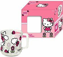 Sanrio Hello Kitty Glas Tasse Becher 2x