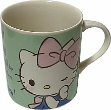 Sanrio Hello Kitty Keramikbecher, 8 x 9 cm, Grün