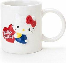 Sanrio Hello Kitty Relief Becher Tasse Weiße