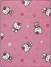 Sanrio Hello Kitty Teppich Kinderteppich Spielteppich NEU rosa, Größe:ca. 145x200cm