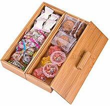 Sansnow 2-lagige Bambus-Bürobedarf-Organizer-Box