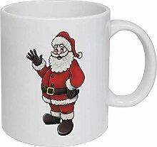 Santa' Ceramic Mug/Travel Coffee Mug