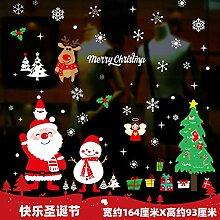 Santa Aufkleber Fenster Glastür Anordnung