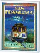 Santa Barbara Design Studio San Francisco Trolley gerahmt Wand/Schreibtisch Plaque von Patrick Reid O 'Brien, 8von 25,4cm