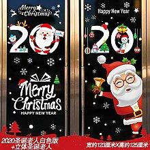 Santa Claus Dekorieren Szene Layout Fenster