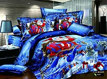 Santa Claus Winter Blue Betten Urlaub Betten Weihnachten Betten Geschenkidee