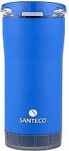 Santeco Origami Thermal Becher, 473ml Doppelwandige Edelstahl Kaffeetasse-Blau