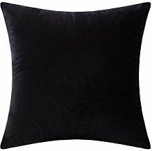SANTIAN Back Stuffed Kissen Kissen Taille Kissen Black 50x50cm (Pillow core + pillowcase)