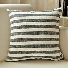 SANTIAN Back Stuffed Kissen Kissen Taille Kissen Black Stripe 30*50cm Waist pillowcase + pillow Core