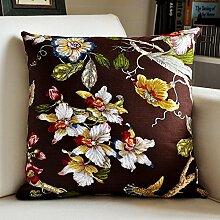 SANTIAN Back Stuffed Kissen Kissen Taille Kissen Coffee color 60*60cm pillowcase + Pillow Core