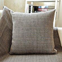 SANTIAN Back Stuffed Kissen Kissen Taille Kissen Gray Café Dot (woven pillow) 30*50cm Waist pillowcase + pillow Core