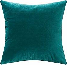 SANTIAN Back Stuffed Kissen Kissen Taille Kissen Green 30x50cm (Pillow core + pillowcase)