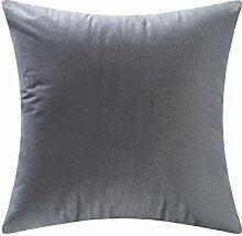 SANTIAN Back Stuffed Kissen Kissen Taille Kissen Grey 45x45cm (Pillow core + pillowcase)