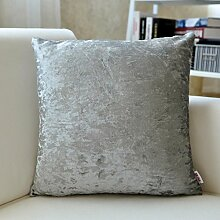 SANTIAN Back Stuffed Kissen Kissen Taille Kissen Grey Blue (plain plush) 45*45cm pillowcase + Pillow Core