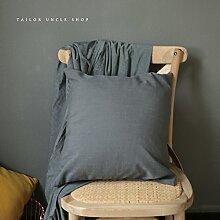SANTIAN Back Stuffed Kissen Kissen Taille Kissen Grey (pillowcase + pillow Core) 45x45cm