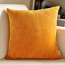 SANTIAN Back Stuffed Kissen Kissen Taille Kissen Orange (double Fleece Pillow) 30*50cm Waist pillowcase + pillow Core