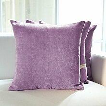 SANTIAN Back Stuffed Kissen Kissen Taille Kissen Purple C 45x45cm (sleeve + core)