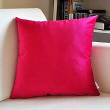 SANTIAN Back Stuffed Kissen Kissen Taille Kissen Red (Netherlands Velvet Series) 45*45cm pillowcase + Pillow Core