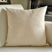 SANTIAN Back Stuffed Kissen Kissen Taille Kissen Thickened plain linen 30*50cm Waist pillowcase + pillow Core