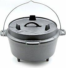 SANTOS Gusseisen Dutch Oven mit Füßen -