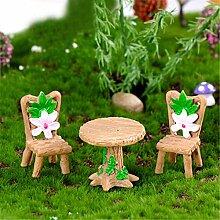 Sanwood 3 Stück Blumen-Tischstühle, Gartenhaus,