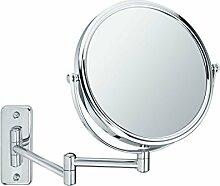 Sanwood 6650700.0 Bea Kosmetikspiegel 1:Ansicht, Wandspiegel 5-Fach Vergrößerung, Metall, Chrom, 31.0 X 23.3 X 3.8 Cm