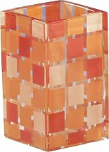 Sanwood 6842030 Mosaik Becher, Polyresin, orange