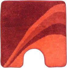 Sanwood 8050115 Badteppich Scarlet mit Ausschnitt, 15 mm Flor, 60 x 60 cm, 100% Polyacryl