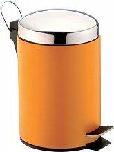 SANWOOD Treteimer orange, Bad-Abfalleimer 3 Liter