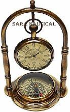 Sara Nautical Antik Victoria London Messing Tisch