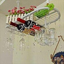 Sarahke Vintage Eisen Hängen Weinglas Holde,