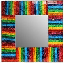 Sarana Mosaik Spiegel mit Regenbogen, 38cm