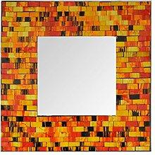 Sarana Spiegel Mosaik Quadratisch Dark Gelb