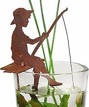 Saremo Angler FINN auf Steg sitzend H30cm