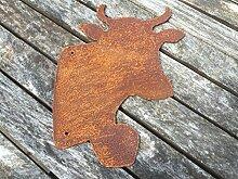 Saremo Kuhkopf mit Glocke zum Hängen Kuh 21cm
