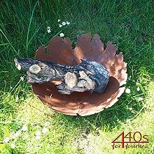 SAREMO Rost Feuerschale mit Rissen ca. 45 cm D