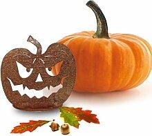 SAREMO Rost Halloween Kürbis auf Platte ca. 25 cm