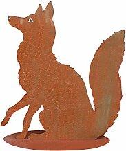 SAREMO Rost sitzender Fuchs auf Platte, H ca. 60
