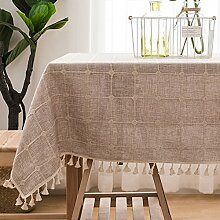 SAsagi Leinen tischdecke Baumwolle mit