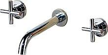 SASAU 20 * 25 cm Wasserhahn Mode Wandmontierter