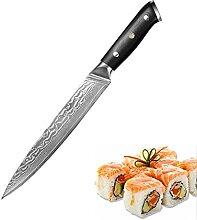 Sashimi-Messer Klebermesser Damaskus Stahl VG10
