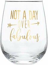 SassyCups Weinglas ohne Stiel, tolles Geschenk