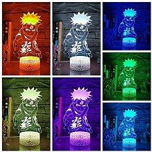 Sasuke 3D-Nachtlichtlampe, japanisches