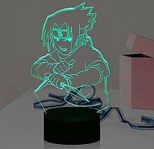 Sasuke Dolch Cartoon Lampe für Jungen